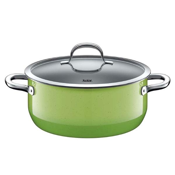 Garnek niski 4,4L Silit Passion Green zielony 24cm 21.0129.9172