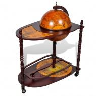 Globobar ze stolikiem, drewniany