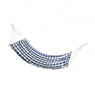 Hamak ogrodowy 78x208 cm Miloo Home Alicante biało-niebieski