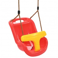 Huśtawka dla dzieci z pasem bezpieczeństwa, PP, czerwona