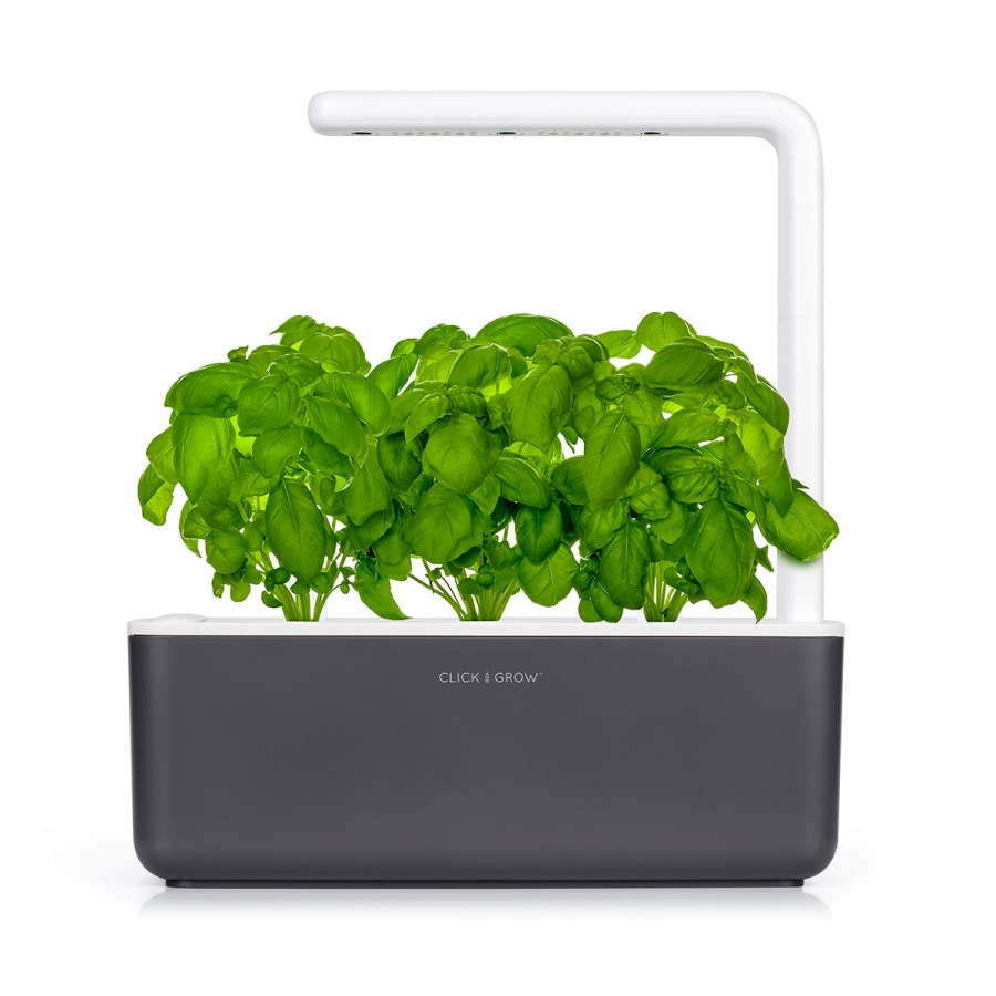 Inteligentna Doniczka Na Zioła 12x30cm Smart Garden 3 Click And Grow Ciemnoszara