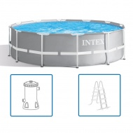 Intex Basen z zestawem akcesoriów Prism Frame, 366 x 99 cm, 26716GN
