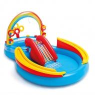 Intex Dmuchany basen Rainbow Ring Play Center, 297x193x135 cm, 57453NP