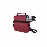 IRIS OPTIMAL Lunchbag torba termiczna z bidonem i pojemnikami na żywność, bordowa