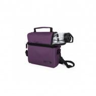 IRIS OPTIMAL Lunchbag torba termiczna z bidonem i pojemnikami na żywność, fioletowa
