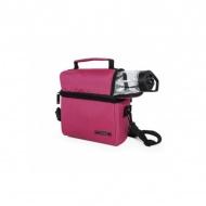 IRIS OPTIMAL Lunchbag torba termiczna z bidonem i pojemnikami na żywność, różowa