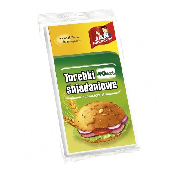 Jan Niezbędny torebki śniadaniowe papier. 40szt MAX-8102