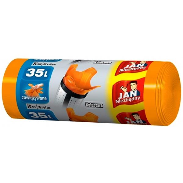 Jan Niezbędny worki HD 35L/30szt. kolorowe MAX-5647