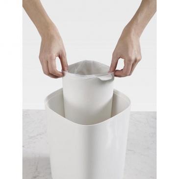 JJ-Kosz łazienkowy do segregacji odpadów, szary