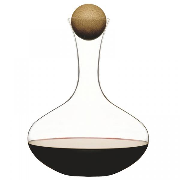 Karafka do wina z dębowym korkiem Sagaform Oval Oak SF-5010116