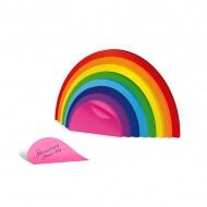 Karteczki samoprzylepne do notowania Tęcza Rainbow Mustard
