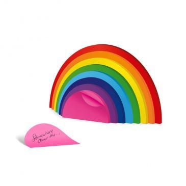 Karteczki samoprzylepne do notowania Tęcza Rainbow Mustard M16074
