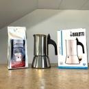 Kawiarka 4TZ Bialetti Venus opakowanie i kawa