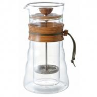 Kawiarka Double Glass 600 ml Hario Olive Wood brązowa