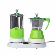 Kawiarka elektryczna ze spieniaczem 4tz 150 ml G.A.T. Gatpuccino zielona