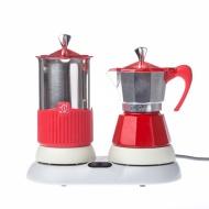 Kawiarka elektryczna ze spieniaczem G.A.T. Gatpuccino 4tz - Czerwona