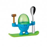 Kieliszek na jajko z łyżeczką WMF niebieski