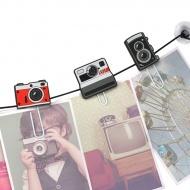 Klamerki do zdjęć ClipIt Mustard aparaty
