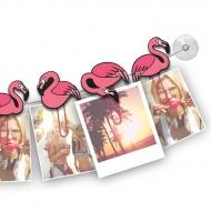 Klamerki do zdjęć ClipIt Mustard Flamingi