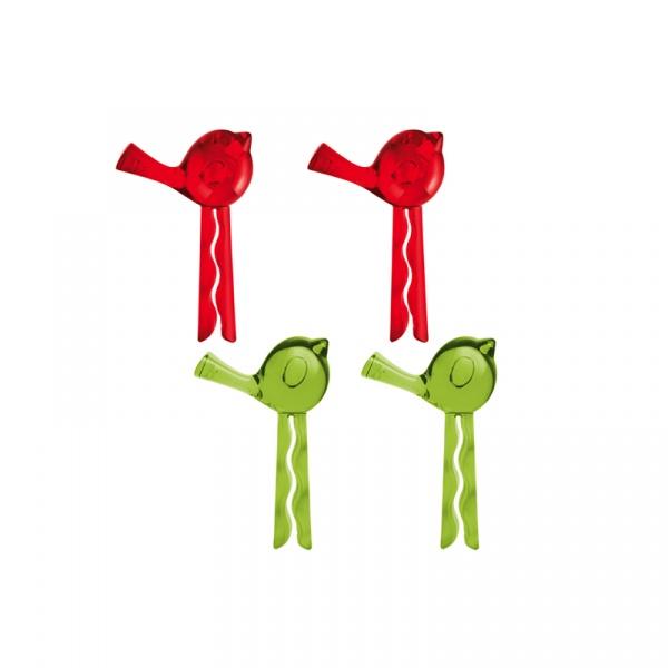 Klipsy do torebek 4 szt. Koziol Pi:p różowo-zielone KZ-5313012