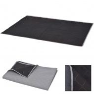 Koc piknikowy szary i czarny, 150x200 cm