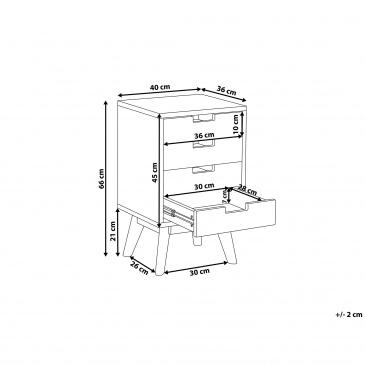 Komoda 4 szuflady wielokolorowa CLARK