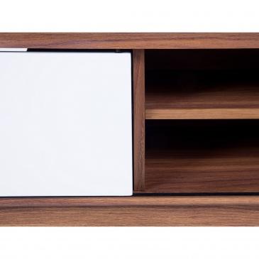 Komoda - brązowo-biała - szafka RTV - szafka pod telewizor - EERIE