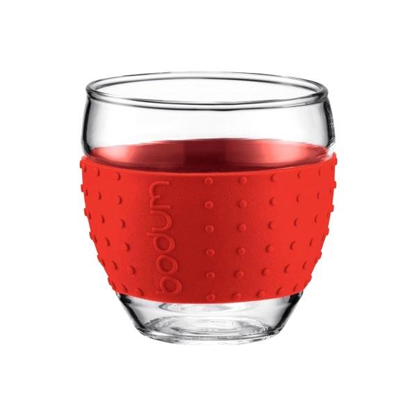 Komplet 2 szt. szklanek 0,35 l Bodum Pavina czerwone BD-11185-294