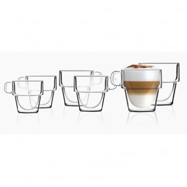 Komplet 6 szklanek z podwójną ścianką 150ml 280ml 350ml Senso 27466