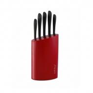Komplet noży w bloku 5szt. Vialli Design 100R czerwony