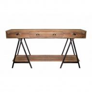 Konsola Atelier 200x45cm Miloo Home Modern Loft naturalny