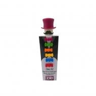 korek do wina i 6 znaczników na kieliszki, śred. 5 cm, purpurowy
