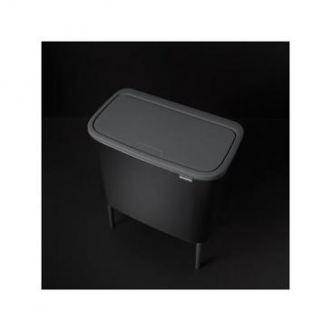 Kosz Bo Touch Bin 10l+23 l, 2 komory, czarny matowy - Brabantia