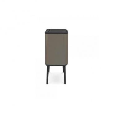Kosz Bo Touch Bin 10l+23 l, 2 komory, platynowy - Brabantia