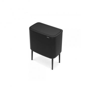 Kosz Bo Touch Bin 3 x 11 l, 3 komory, czarny matowy - Brabantia