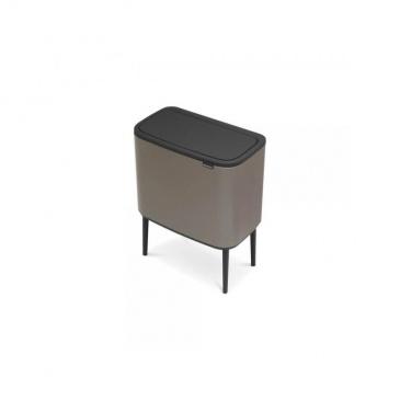 Kosz Bo Touch Bin 3 x 11 l, 3 komory, platynowy - Brabantia
