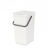 Kosz do segregacji odpadów 16l Brabantia Sort Go biały