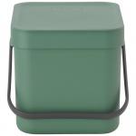 Kosz kuchenny na odpadki 6l Sort&Go zielony 129841