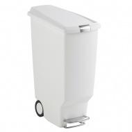 Kosz na śmieci 40 l pedałowy Simple Human SLIM biały