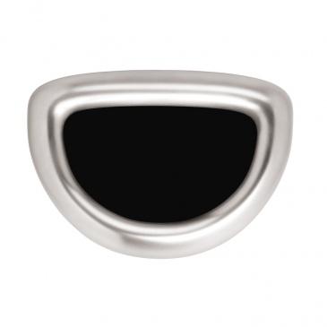 Kosz na śmieci Bullet Open 60L półokrągły Simplehuman srebrny