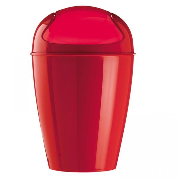 Kosz na śmieci czerwony Koziol Del XL KZ-5773583