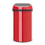 Kosz na śmieci kuchenny 60l Touch Bin Brabantia czerwony
