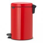 Kosz na śmieci kuchenny pedałowy 12l NewIcon Brabantia czerwony