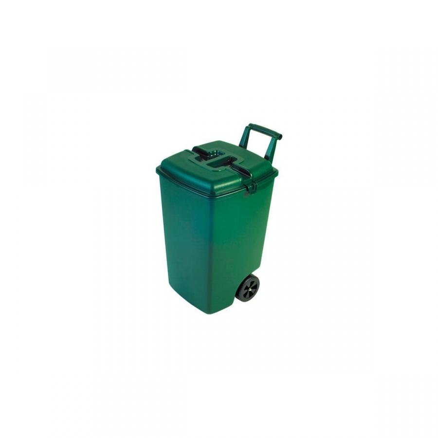 Oryginał Kosz na śmieci na kółkach 90l Curver zielony - SuperWnetrze.pl CF31