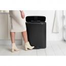 Kosz na śmieci pedałowy Bo 2x30L czarny 211508