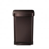 Kosz na śmieci pedałowy Liner Pocket 45L Simplehuman czekoladowy