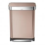 Kosz na śmieci pedałowy Liner Pocket 55L Simplehuman różowe złoto