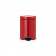 Kosz na śmieci pedałowy NewIcon Brabantia 5l czerwony