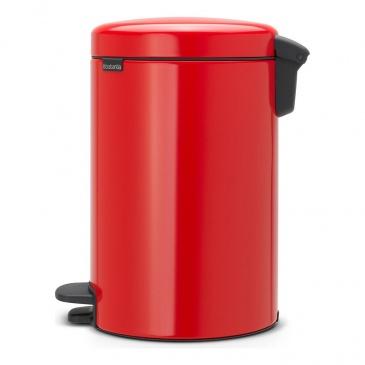 Kosz pedałowy newIcon 12 L czerwony, wolnoopadająca pokrywa - Brabantia