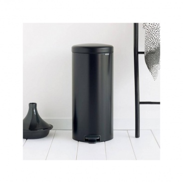 Kosz pedałowy newIcon 30 L czarny matowy, wolnoopadająca pokrywa - Brabantia
